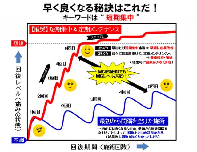 回復曲線(短期集中)