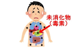 血行不良:体内毒素